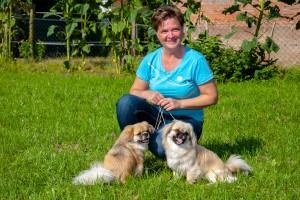 Susanne Lachmann mit Elysa und Mary